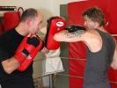 Frontmann Campino im Training an der Pratze bei KAMINARI
