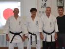 (v.l.n.r.) Klaus Müller, Hiroyuki Inagaki, Willi Donner, Elvis Llapjani