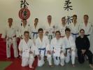 Die Teilnehmer der Jugend- und Erwachsenen-Prüfung im Jiu Jitsu 2017