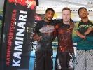 KAMINARI-Trainer Anton Krischer (Mitte) mit Marvin Castelle und Schüler aus Los Angeles.