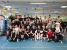 Die Teilnehmer des Power-Kicking-Seminar mit Scott Adkins waren sichtlich begeistert. Foto: Matias Möller
