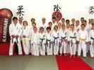 Großmeister Hiroyuki Inagaki (li.) reist jährlich von Kyoto, Japan nach Düsseldorf. So können unsere Mitglieder das Inyo-Ryu-Karate direkt vom Ursprung lernen.